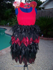 Red Fairy Gothic Costume Black Red Lace Renaissance Festival XXL 2X