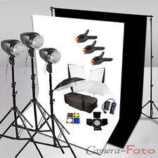 540W Flash Kit Lighting Photo Studio Softbox 2 Backdrop Stand Background Support