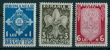 Rumänien 1936 Mi.516-18 ** Pfadfinderlager,Brasov,Kronstadt,Jaboree,Boy Scouts