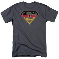 Licensed Superman German Flag Germany Shield Tee Shirt Adult Sizes S-3XL