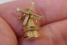 Vintage 14kt Yellow Gold Movable Windmill Charm / Pendant - 2.0 Grams