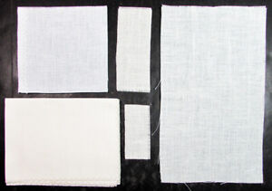 41x Embroidery Fabric  Linen (Whites/Browns/Greys)/Various Counts & Sizes-SL3