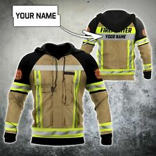 NEW Customize Name Firefighter 3D All Printed Hoodie Gift For Husband, Dad Best