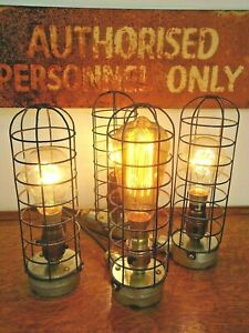 Vintage Bulkhead Lamp Light Industrial Retro Steampunk Desk Wall BedSide PATest