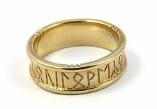 Scottish Ola Gorie Runic Wedding Ring 9ct Yellow Gold 375