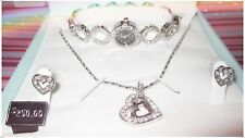 LOVE SET -Ashley Princess Timeless Collection Necklace/earring/watch FREEBattery
