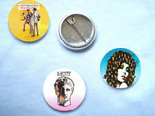 Mott The Hoople-Set Of 3 Badges Mick Ronson Ian Hunter