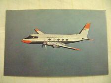 old postcard- AVIATION, GRUMMAN GULFSTREAM JET AIRPLANE ADVERTISEMENT
