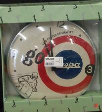 GENUINE Vespa Piaggio Wall Clock 'Go Vespa' - Brand New