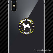 (2x) Proud Owner Canaan Cell Phone Sticker Mobile dog canine pet