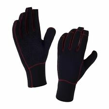 SealSkinz Neoprene Road Bike Cycling Cycle Gloves - Black/Core Red - XXL