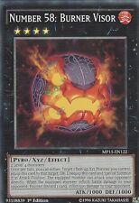 3 X YU-GI-OH CARD: NUMBER 58: BURNER VISOR - MP15-EN122 - 1st EDITION