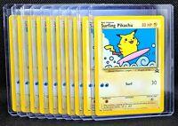 Surfing Pikachu #28 Black Star Promo WOTC 2001 Lot of 10 near mint