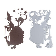 New DIY Witch Shaped Metal Cutting Dies Stencil Scrapbooking Emboss Paper Card