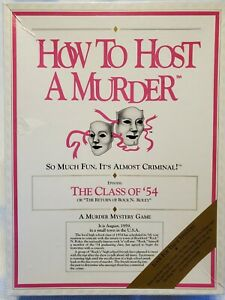 How To Host A Murder The Class of '54 Vintage Party Fun Game 1987 Sealed