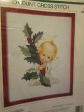 Holly Angel No Count Cross Stitch Kit-8x10 Inches/20x25cm-Sunset #18306, Ruth Mo