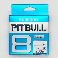 SHIMANO PITBULL X8 Braided Line PE 200m Super Blue Select LB Free Shipping