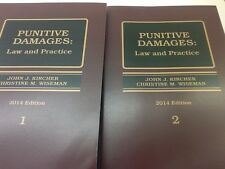 Punitive Damages Law and Practice Litigation legal Law Book NEW 2015  2 volumes