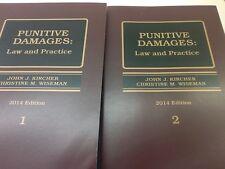 Punitive Damages Law and Practice Litigation legal Law Book NEW 2014  2 vol a