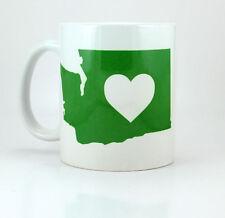 Washington State Heart - 11 oz Ceramic Coffee Cup Mug Love USA Seattle Olympia