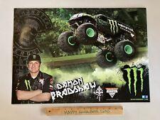 New Monster Truck Energy Drink Brandon Paper Poster Man cave Logo Banner Sign