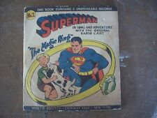 "1947 Musette Records Superman ""The Magic Ring""  with BONUS !!"