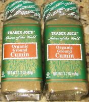2-Pack Trader Joe's ORGANIC Ground Cumin 1.7 oz. Spices of the World.