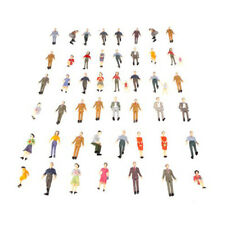 50pcs G Scale 1:30 Mix Painted Model People Train Park Street Passenger Fi Y8P0
