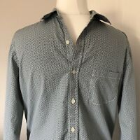 Men's White Stuff Classic Fit Long Sleeved Blue Green Floral Shirt Size S