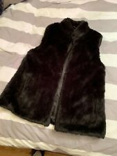 Oasis Ladies Faux Fur Gillet Black, Size Small