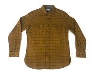 NWT Wallace & Barnes Brown Flannel Heavyweight Shirt Size Mens Medium K2562