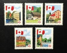 Canada #2350a-2350e MNH, Flag over Mills Definitives Set of Stamps 2010
