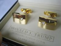 Rare Donald Trump Signature Two-Tone Gold Color Cufflinks with CZ Accents