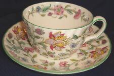 RP1294 Vtg Minton Haddon Hall Tea Cup & Saucer Fine China