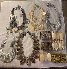 Viktoria Hayman 10 Pc Shell MOP Sterling Jewelry Lot Necklace Bracelet