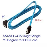 "18"" SATA 3.0 Cable SATA3 III 6GB/s Right Angle 90 Degree for HDD Hard Drive 1M"