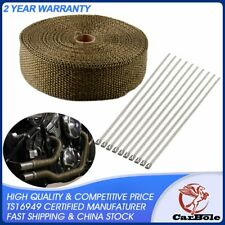 "Exhaust Wrap Titanium 2"" x 50' Exhaust Heat Wrap Tap Header Glassfiber Wrap Kit"