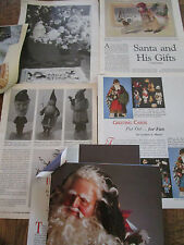 LOT of 5 Vtg Christmas SANTA Toy Articles/Plastic Candy/Papier Mache/Postcards a