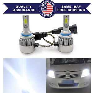 9005 HB3 LED Headlight Bulbs Kit Bright Hi/Low Beam White 6000K 55W 8000LM