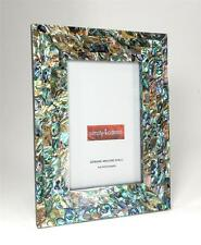 Genuine Abalone Paua Shell  Mother of Pearl Picture Frame 4 X 6 Photo Handmade