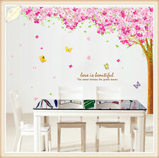 Large Cherry Blossoms Tree Removable Wall Sticker DIY Decal Mural Home Decor