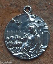 ancienn médaille religieuse uniface en argent la communion - 18 mm