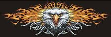 "Lethal Threat Flaming Flame Eagle Decal Sticker 6"" x 18"" Cars SUV Trucks Wall"
