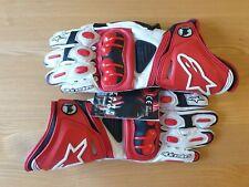 New Alpinestars Athlete-Issue GP Pro (Hard cuff) Red/White Gloves Size Medium.