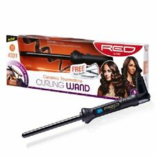 """RED BY KISS CERAMIC TOURMALINE CURLING WAND 0.5inch (1/2"""") #CIW01"""