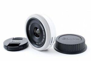 Canon EF 40mm f/2.8 STM Lens White [Exellent From Japan [jkh]
