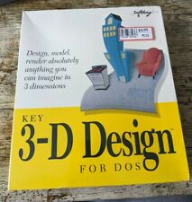 Vintage 3-D Design For DOS By Softkey Brand New & Factory Sealed 3.5 Disks 1994
