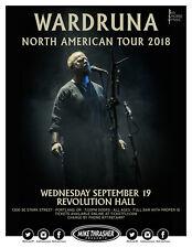 "WARDRUNA ""NORTH AMERICAN TOUR 2018"" PORTLAND CONCERT POSTER - Nordic / Dark Folk"