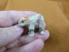 (Y-Wom-1) Wombat marsupial Soapstone carving Peru figurine love little wombats