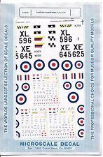 Microscale Hawker Hunter Mk 7, 9, 10 Decals 1/72 548